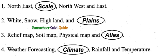Samacheer Kalvi 7th Social Science Guide Geography Term 3 Chapter 2 Map Reading 1