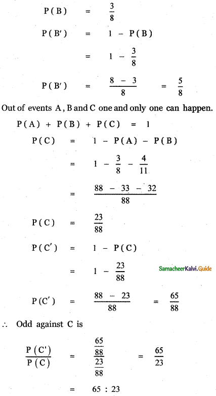 Samacheer Kalvi 11th Maths Guide Chapter 12 Introduction to Probability Theory Ex 12.5 20