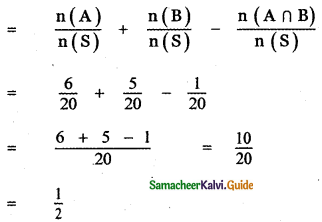 Samacheer Kalvi 11th Maths Guide Chapter 12 Introduction to Probability Theory Ex 12.5 3