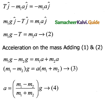Samacheer Kalvi 11th Physics Guide Chapter 3 Laws of Motion 14