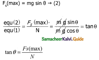 Samacheer Kalvi 11th Physics Guide Chapter 3 Laws of Motion 22