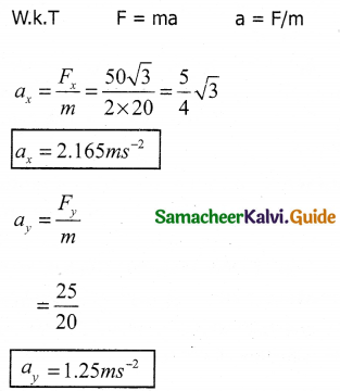 Samacheer Kalvi 11th Physics Guide Chapter 3 Laws of Motion 30