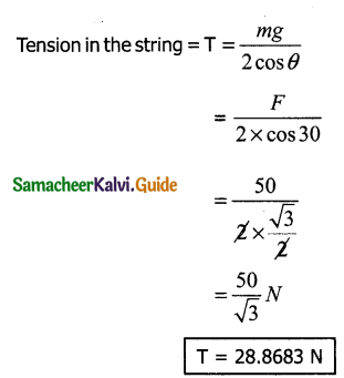 Samacheer Kalvi 11th Physics Guide Chapter 3 Laws of Motion 45