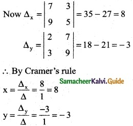 Samacheer Kalvi 12th Business Maths Guide Chapter 1 Applications of Matrices and Determinants Ex 1.2 1