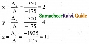 Samacheer Kalvi 12th Business Maths Guide Chapter 1 Applications of Matrices and Determinants Miscellaneous Problems 11