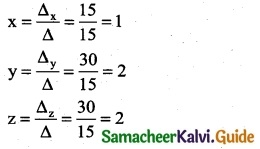 Samacheer Kalvi 12th Business Maths Guide Chapter 1 Applications of Matrices and Determinants Miscellaneous Problems 8