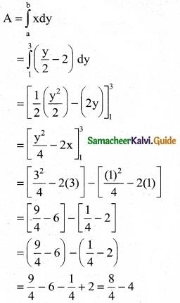 Samacheer Kalvi 12th Business Maths Guide Chapter 3 Integral Calculus II Ex 3.1 2