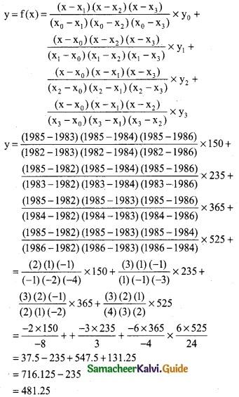 Samacheer Kalvi 12th Business Maths Guide Chapter 5 Numerical Methods Ex 5.2 24