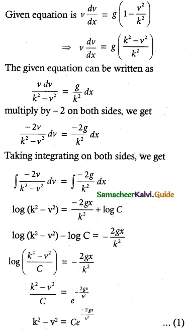 Samacheer Kalvi 12th Maths Guide Chapter 10 Ordinary Differential Equations Ex 10.5 2
