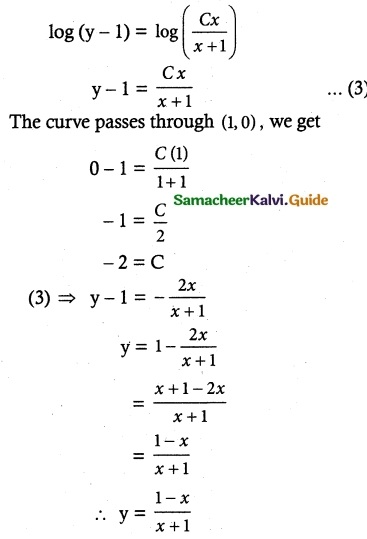 Samacheer Kalvi 12th Maths Guide Chapter 10 Ordinary Differential Equations Ex 10.5 4