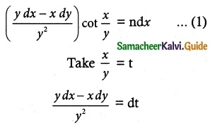 Samacheer Kalvi 12th Maths Guide Chapter 10 Ordinary Differential Equations Ex 10.5 5