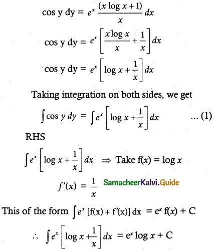Samacheer Kalvi 12th Maths Guide Chapter 10 Ordinary Differential Equations Ex 10.5 7