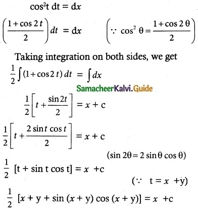 Samacheer Kalvi 12th Maths Guide Chapter 10 Ordinary Differential Equations Ex 10.5-9