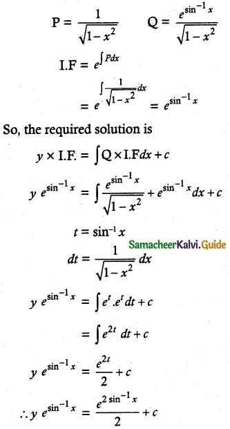 Samacheer Kalvi 12th Maths Guide Chapter 10 Ordinary Differential Equations Ex 10.7 10