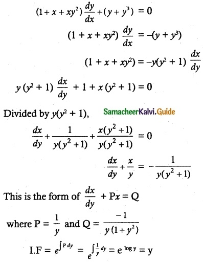 Samacheer Kalvi 12th Maths Guide Chapter 10 Ordinary Differential Equations Ex 10.7 13