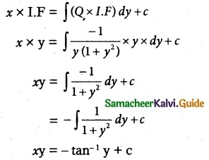 Samacheer Kalvi 12th Maths Guide Chapter 10 Ordinary Differential Equations Ex 10.7 14