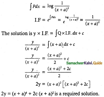 Samacheer Kalvi 12th Maths Guide Chapter 10 Ordinary Differential Equations Ex 10.7 16