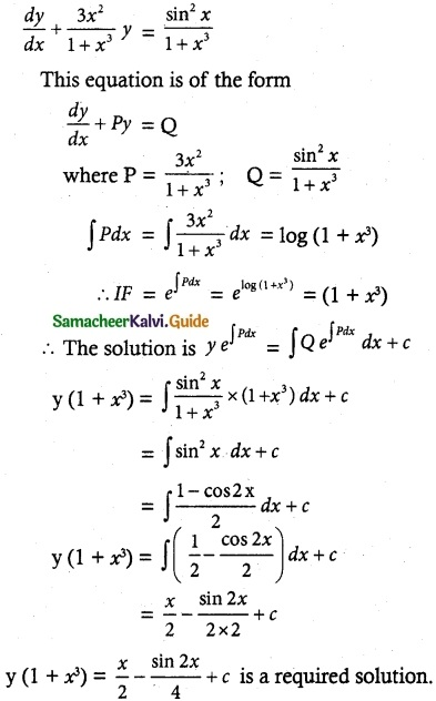Samacheer Kalvi 12th Maths Guide Chapter 10 Ordinary Differential Equations Ex 10.7 17
