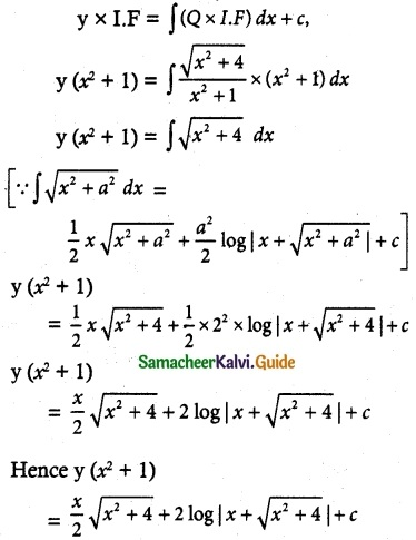 Samacheer Kalvi 12th Maths Guide Chapter 10 Ordinary Differential Equations Ex 10.7 6