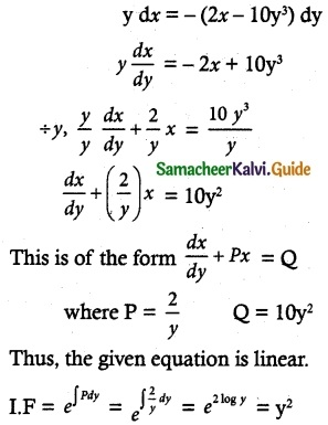 Samacheer Kalvi 12th Maths Guide Chapter 10 Ordinary Differential Equations Ex 10.7 7