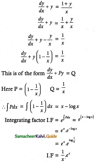 Samacheer Kalvi 12th Maths Guide Chapter 10 Ordinary Differential Equations Ex 10.9 6