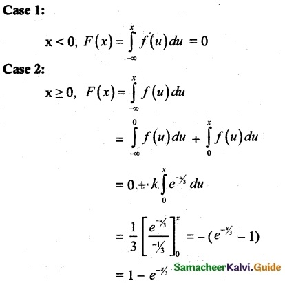 Samacheer Kalvi 12th Maths Guide Chapter 11 Probability Distributions Ex 11.3 12
