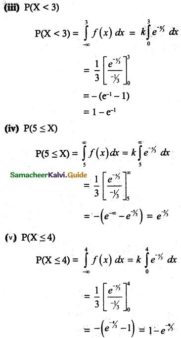 Samacheer Kalvi 12th Maths Guide Chapter 11 Probability Distributions Ex 11.3 13
