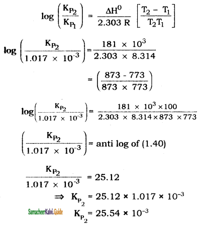 Samacheer Kalvi 11th Chemistry Guide Chapter 8 Physical and Chemical Equilibrium 19