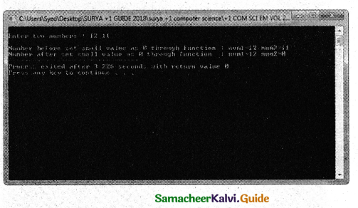 Samacheer Kalvi 11th Computer Science Guide Chapter 11 Functions 8