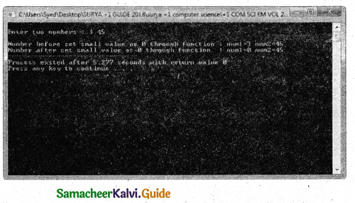 Samacheer Kalvi 11th Computer Science Guide Chapter 11 Functions 9