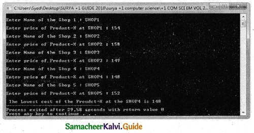 Samacheer Kalvi 11th Computer Science Guide Chapter 12 Arrays and Structures 11