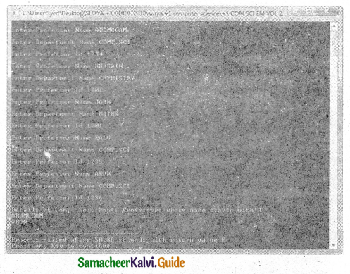 Samacheer Kalvi 11th Computer Science Guide Chapter 12 Arrays and Structures 17