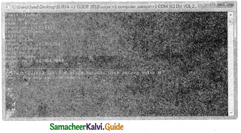 Samacheer Kalvi 11th Computer Science Guide Chapter 12 Arrays and Structures 19