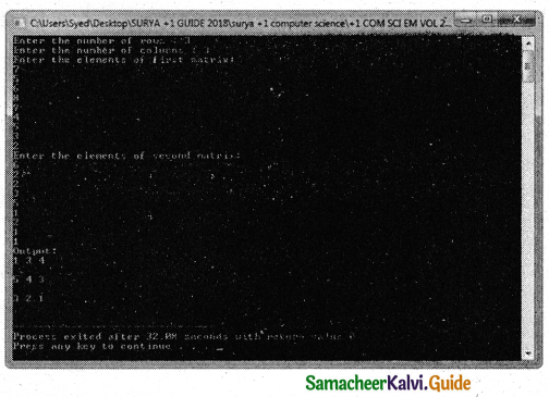 Samacheer Kalvi 11th Computer Science Guide Chapter 12 Arrays and Structures 2