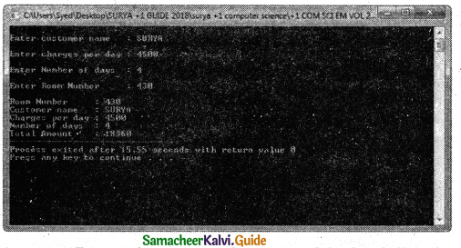 Samacheer Kalvi 11th Computer Science Guide Chapter 14 Classes and Objects 18