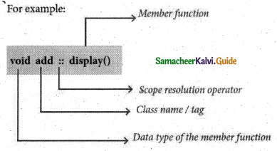 Samacheer Kalvi 11th Computer Science Guide Chapter 14 Classes and Objects 8