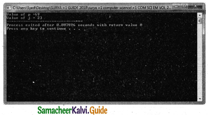Samacheer Kalvi 11th Computer Science Guide Chapter 9 Introduction to C++ 14