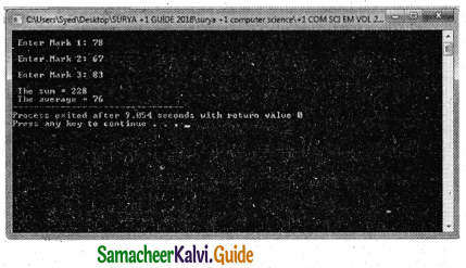 Samacheer Kalvi 11th Computer Science Guide Chapter 9 Introduction to C++ 16