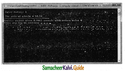Samacheer Kalvi 11th Computer Science Guide Chapter 9 Introduction to C++ 17