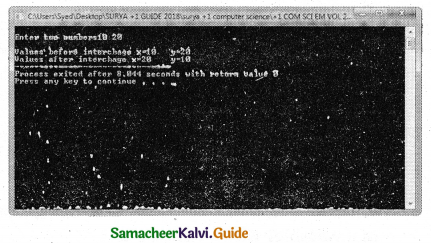 Samacheer Kalvi 11th Computer Science Guide Chapter 9 Introduction to C++ 24