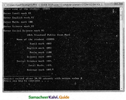 Samacheer Kalvi 11th Computer Science Guide Chapter 9 Introduction to C++ 29