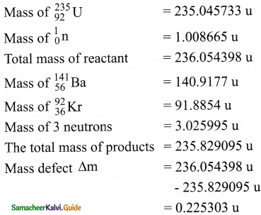 Samacheer Kalvi 12th Physics Guide Chapter 8 Atomic and Nuclear Physics 28