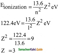 Samacheer Kalvi 12th Physics Guide Chapter 8 Atomic and Nuclear Physics 3