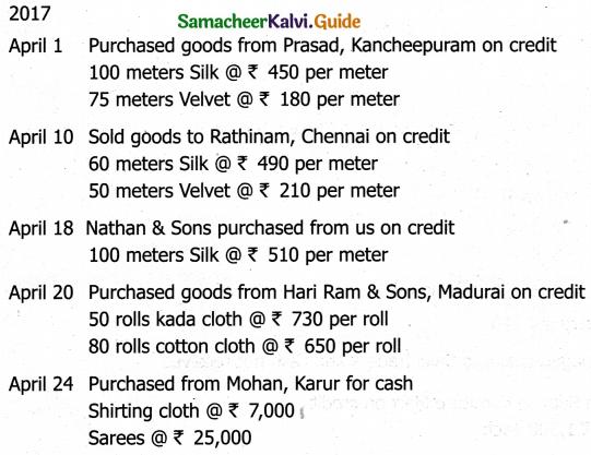Samacheer Kalvi 11th Accountancy Guide Chapter 6 Subsidiary Books – I 11