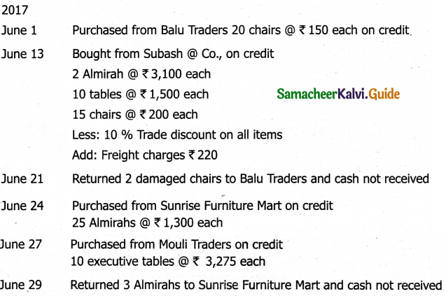 Samacheer Kalvi 11th Accountancy Guide Chapter 6 Subsidiary Books – I 14