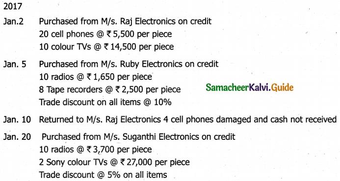 Samacheer Kalvi 11th Accountancy Guide Chapter 6 Subsidiary Books – I 23