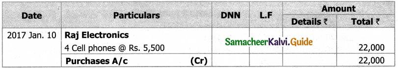 Samacheer Kalvi 11th Accountancy Guide Chapter 6 Subsidiary Books – I 25