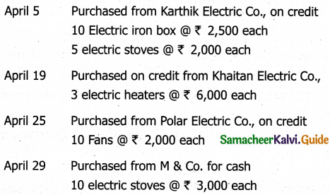 Samacheer Kalvi 11th Accountancy Guide Chapter 6 Subsidiary Books – I 3