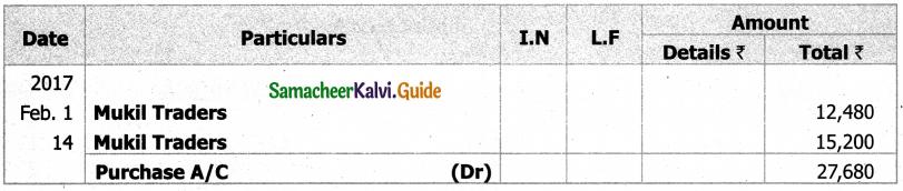 Samacheer Kalvi 11th Accountancy Guide Chapter 6 Subsidiary Books – I 37