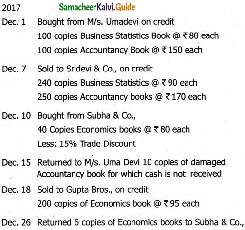 Samacheer Kalvi 11th Accountancy Guide Chapter 6 Subsidiary Books – I 43